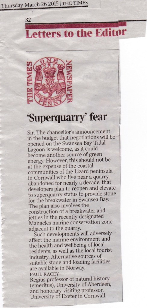 LETTER TO THE TIMES 26.4